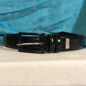 Nine West snakeskin belt.